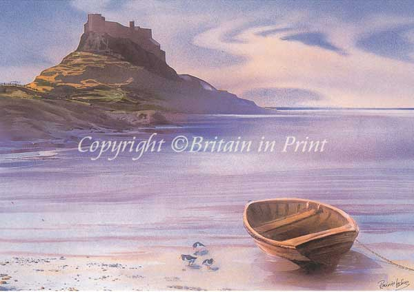 Lindisfarne with Boat in Foreground